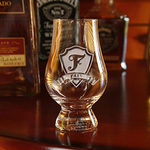 Glencairn Scotch Whisky Glass Engraved, Set of 2 (m30glen) by Crystal Imagery Engraved Glass Barware Gifts (Image #1)