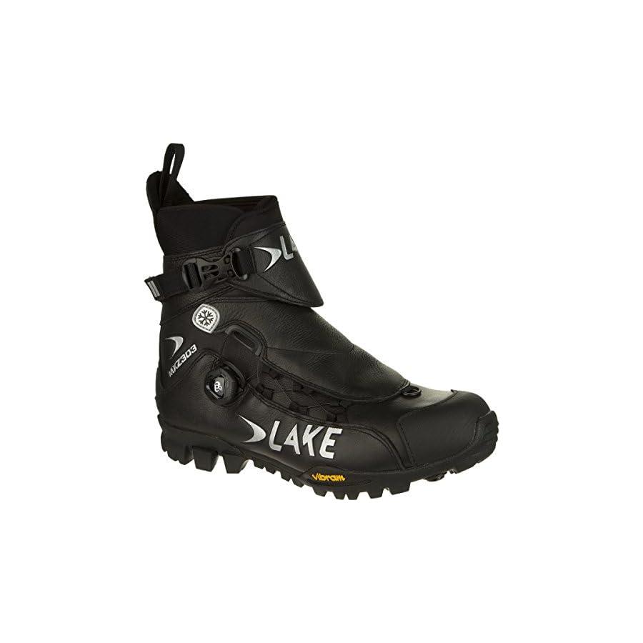 Lake Cycling 2017 Men's MXZ303 X Wide Mountain Cycling Shoes Black (Black 45)