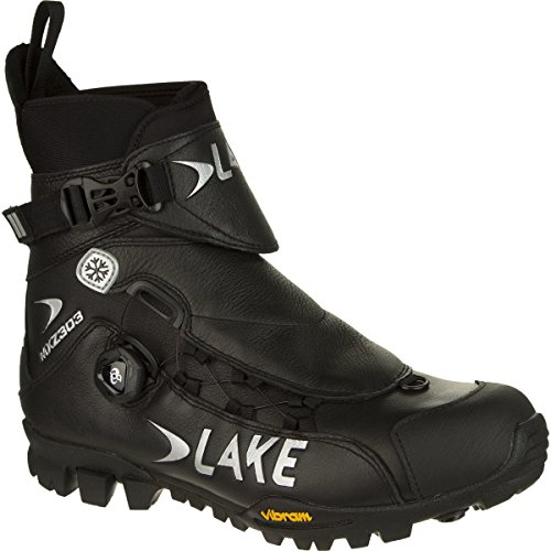 Lake MXZ303 Winter Boots - Wide - Men's Black, 46.0