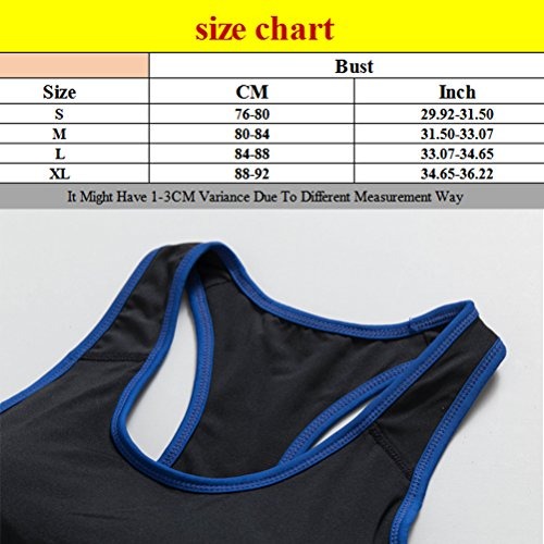 Zhhlinyuan Womens Sport Yoga Bra Running Fitness Stretch Workout Tank Tops 5007 Black&Rose red