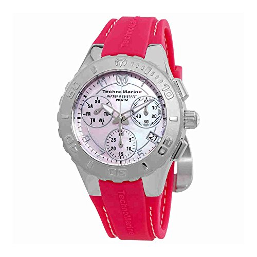 Technomarine Women's 'Cruise' Quartz Stainless Steel and Silicone Casual Watch, Color:Pink (Model: TM-115085)