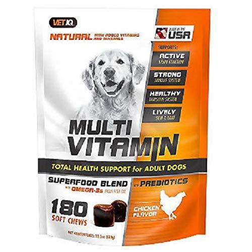 by Buzzard Creek Supply VetIQ Multi-Vitamin Soft Chew, Chicken Flavor (180 ct.) (1 pack)