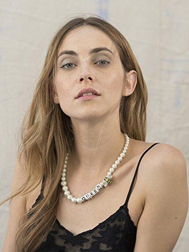Venessa Arizaga Collier Laiton Ronde Perle Blanc Femme 49.53cm