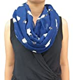 Lina & Lily Penguin Print Infinity Loop Women's Scarf (Blue)