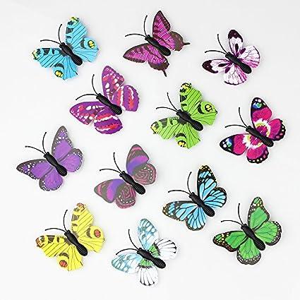Amazon Com Hot Sale 100 Pieces 3d Pvc Artificial Butterfly Decor