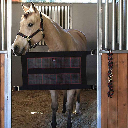Kensington Stall Guard for Horses — Designed to Keep Horse Securely in Stall in Style —  Adjustable Straps and Hardware Included