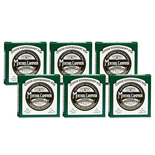 Menthol Ointment - J.R. Watkins Ointment, 4.13 oz, Menthol Camphor (6 Pack)