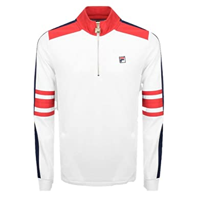 6015936f Fila Vintage White Line Alastair Quarter Zip Track Top at ...