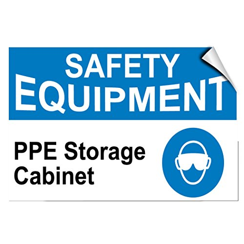 Safety Equipment Ppe Storage Cabinet Business Label Decal