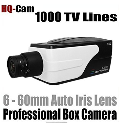 HQ-Cam Security Surveillance Box Camera - 1080P TVI / AHD / CVI / 960H 1000 TV Color Lines High Resolution 1/3