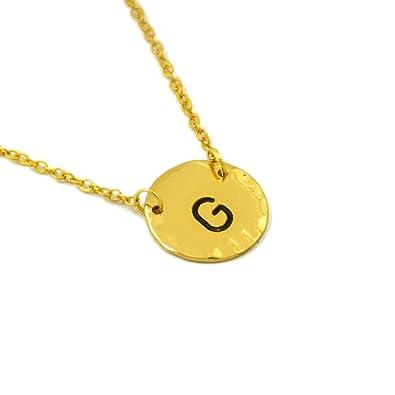 custom letter charm necklace gold letter necklace initials necklace gold initials charm necklace