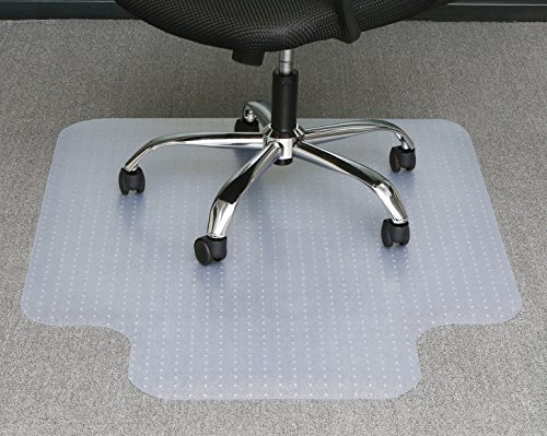 Office Premium Chair Mat 35''x47'' Carpet Protection Mat Low Medium Pile,Studded,Clear with Lip Shaped by Tikteck