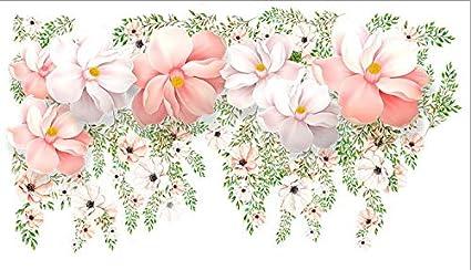 Flor fresca racimo etiqueta de la pared decoración de papel de pared ...