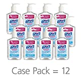 PURELL Advanced Hand Sanitizer, Refreshing Gel, 8 fl oz Hand Sanitizer Counter Top Pump Bottles (Case of 12) – 3015-12-CMR