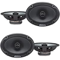 Alpine Type-E 6 x 9 Inch 300W Coaxial 2-Way Car Audio Speakers SPE-6090 (4 Pack)