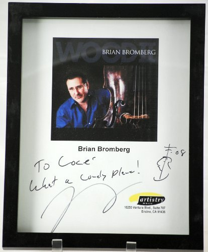 Brian Bromberg Bass - 2008 - Artistry Music - Brian Bromberg Signed Wood II Promo Photo - Inscribed - Signed in Black - Framed - Rare - Collectible