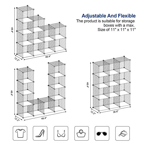 White Metal Storage Cubes