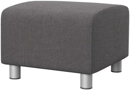 Soferia Ikea Klippan Fodera Per Pouf Glam Grey Amazon It Casa E Cucina