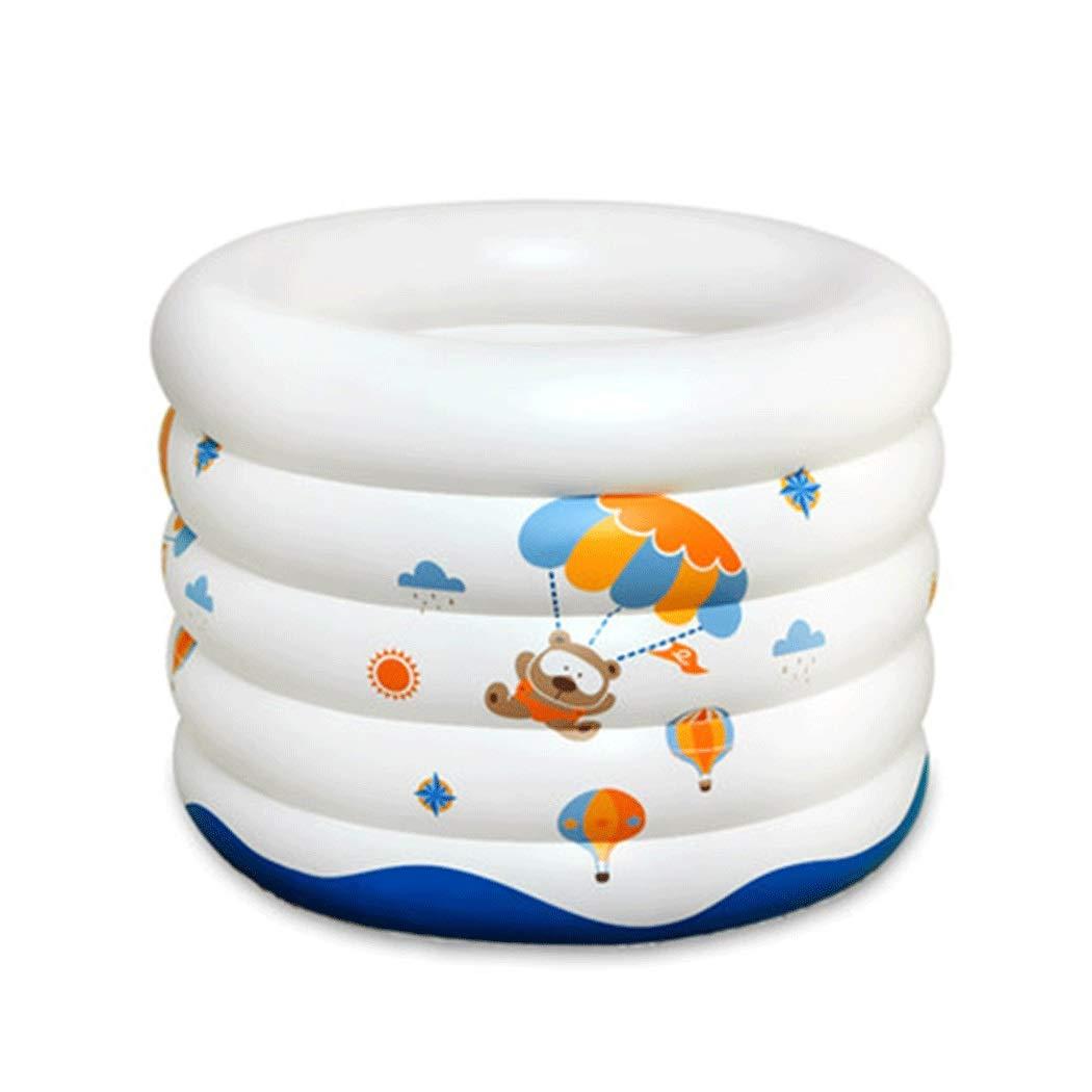 AXIANQI 赤ちゃん肥厚断熱材インフレータブルラウンドプール子供用プールファミリー子供用マリンボールプール90 * 70センチ a (色 : 白) B07PLM5KY3 白