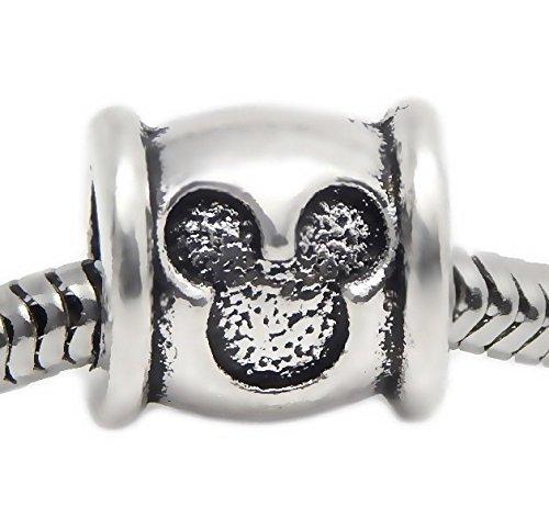 - J&M Mouse Head Barrel Charm Bead for Bracelets