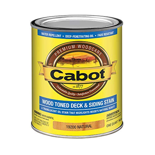 CABOT SAMUEL INC 19200-05 QT NAT WD Deck Stain, Natural