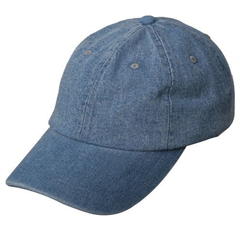 MG Womens Cotton Baseball Cap Hat, Light Blue Denim, One Size