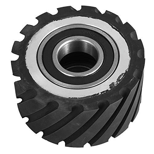 Cheap Happybuy 4″x2″ Belt Grinder Rubber Wheel Serrated Rubber Contact Wheel 6206 Bearing Belt Grinder Wheel for 2×72″ Knife Making Grinder