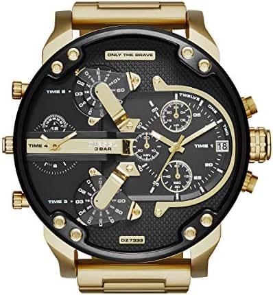 Diesel Men's Mr Daddy 2.0 Quartz Stainless Steel Chronograph Watch, Color: Gold-Tone (Model: DZ7333)