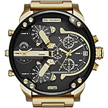 Diesel Men's Mr Daddy 2.0 Quartz Stainless Steel Chronograph Watch, Color Gold-Tone (Model: DZ7333)