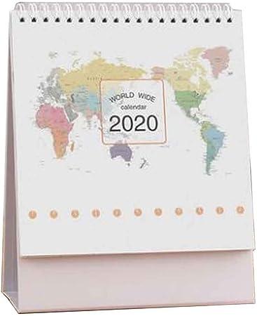 Agosto de 2019 a diciembre de 2020 Calendario de escritorio ...