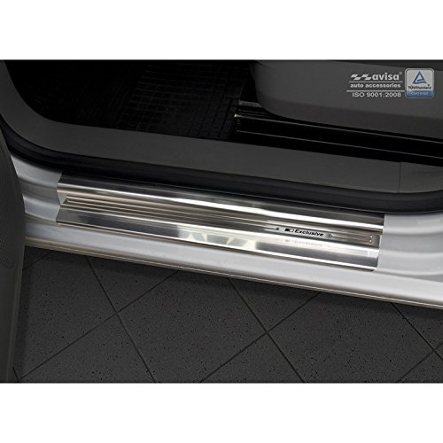 Autostyle 2//22942 INOX Door Sill Protector Silver