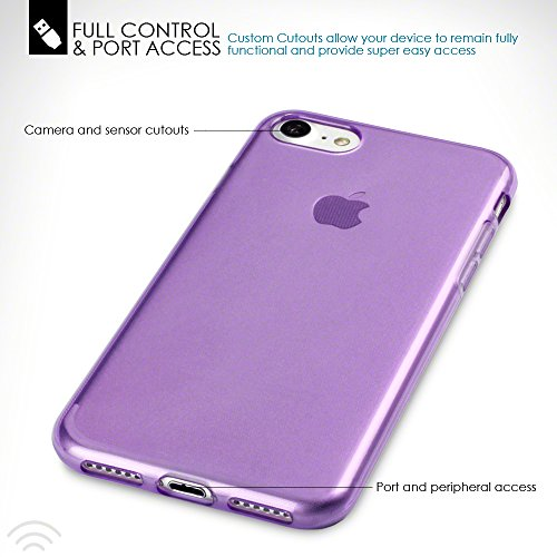 Terrapin TPU Gel Custodia per iPhone 7 Case, Colore: Porpora