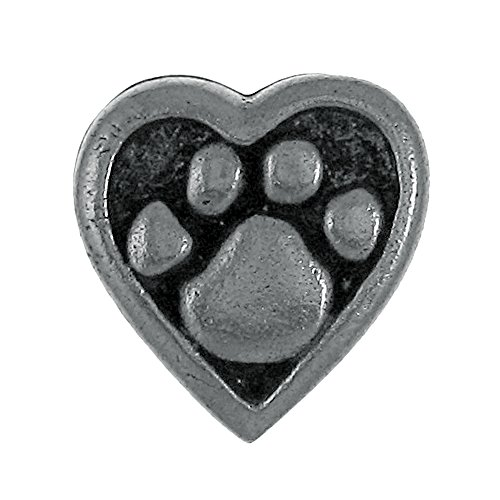 Heart and Paw Lapel Pin - 1 Count (Pin Puppy Paw)