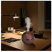 Mapletop Air Humidifier Aroma Essential Oil Diffuser LED Ultrasonic Aroma Aromatherapy Humidifier (Brown)