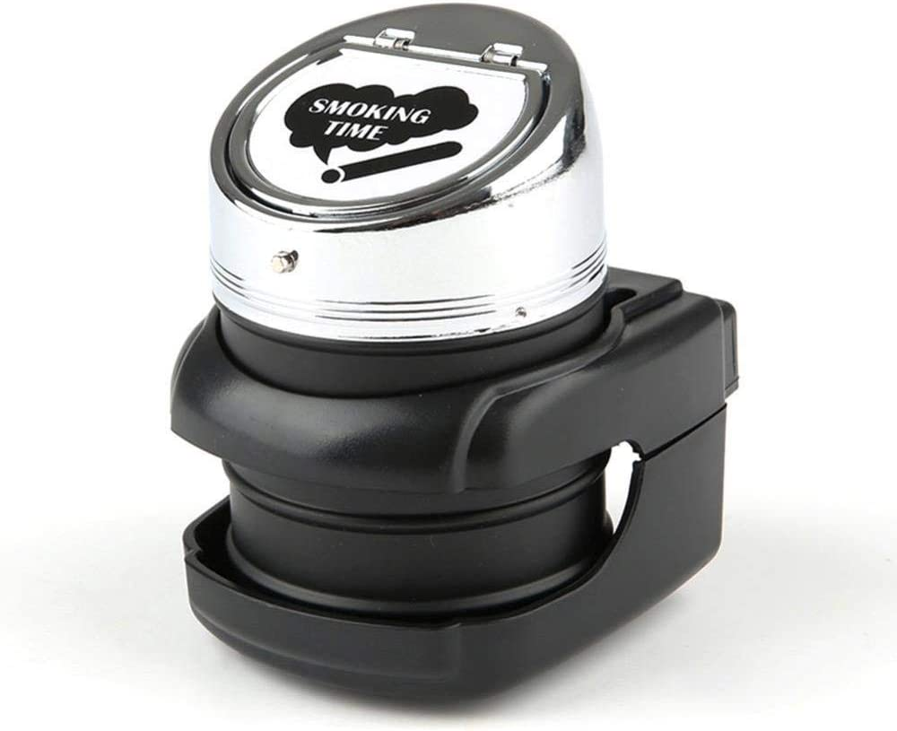 BY-BAY Stainless Steel Car Ashtray Large Capacity Ashtray Holder with A Lid for Travel Auto Accessories,Pink