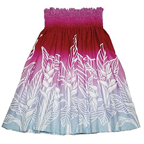 (Hawaiian Pa'u Hula Skirt Hawaii Print for Womens (Green) (Pink Blue))