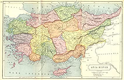 Ancient Asia Map Amazon.com: TURKEY. Asia Minor Ancient   1908   old map   antique