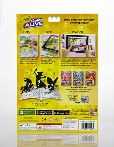 amazoncom crayola color alive action coloring pages combo set barbie and enchanted forest toys games