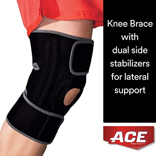 - ACE Brand Knee Brace with Dual Side Stabilizers, America's Most Trusted Brand of Braces and Supports, Money Back Satisfaction Guarantee