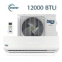 Amira 12000 BTU Mini Split Air Conditioner and Heat Pump with 15 Foot Installation Kit - 208-230 VAC