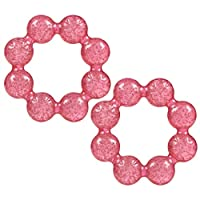 Nuby Pur Ice Bite Soother Ring Teether, 2 Count - Pink