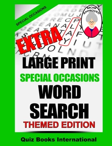 Extra Large Print Special Occasions Word Search