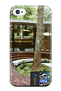 3414496K31336283 Iphone Case - Tpu Case Protective For Iphone 4/4s- Japanese Architecture