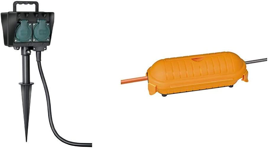 Brennenstuhl Gartensteckdose Außensteckdose 4 Fach Mit Erdspieß Witterungsbeständiger Kunststoff Brennenstuhl Safe Box Big Ip44 Schutzbox Für Verlängerungskabel Baumarkt
