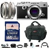 Olympus PEN-F Mirrorless Digital Camera w/17mm f/1.8 Lens 16GB Card Bundle