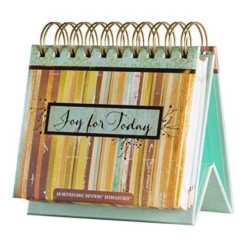 DaySpring Joy for Today, DayBrightener Perpetual Flip Calendar, 366 Days of Inspiration (75620)