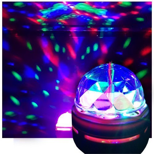 (LED Disco Party Bulb, Disco Light, DJ Light for Party's, Chrystal Ball Effect - Ships from USA)