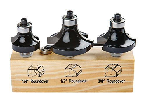 - Irwin Tools 1901045 Marples Roundover Router Bit Set (3 Piece)
