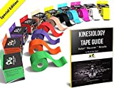 Kinesiology Tape (2 Pack or 1 Pack) by Physix Gear Sport, Best Waterproof Muscle Support Adhesive, 2in x 16.4ft Roll Uncut, Physio Therapeutic Aid for Injury Recovery, Free 82pg E-Guide -YELLOW 1 PACK