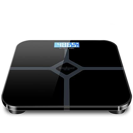 JXXDQ Básculas de baño, básculas Digitales con Cuatro sensores de precisión